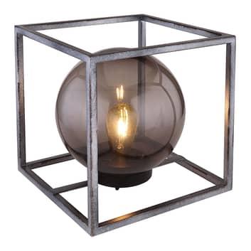 LED-Solar-Dekoleuchte Würfel mit Kugel