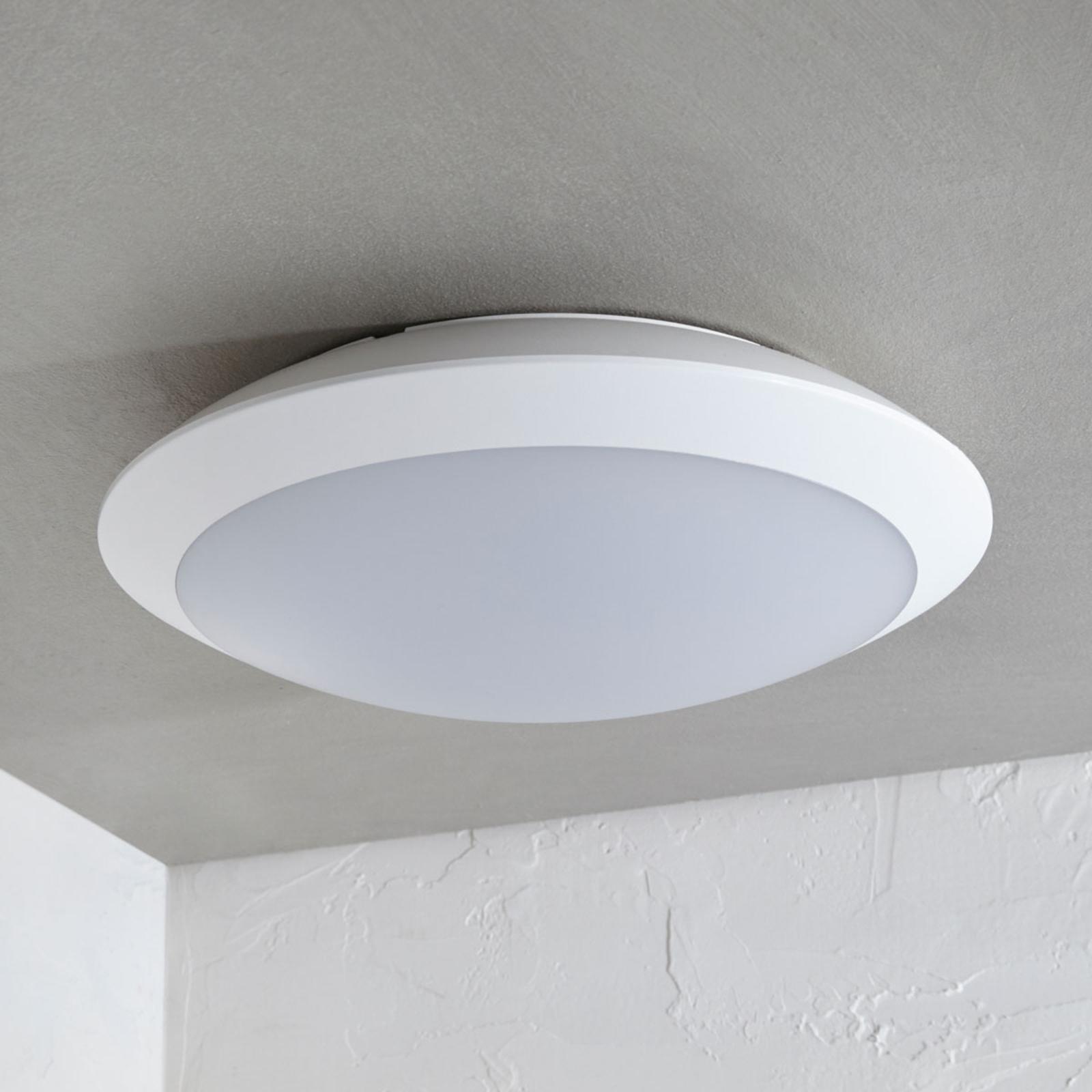 Utendørs LED-taklampe Naira, hvit, sensor