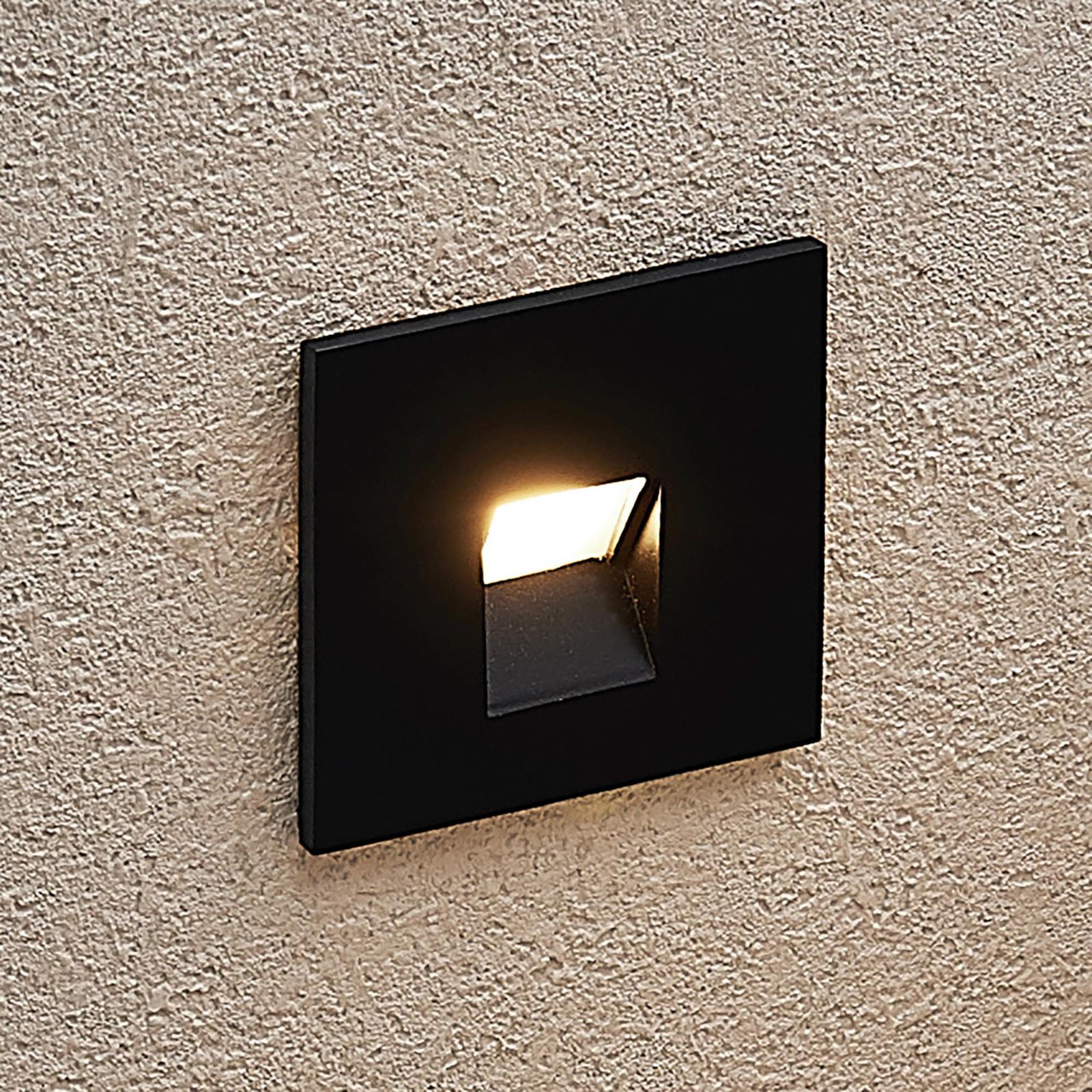 Arcchio Vexi LED-Einbaulampe, eckig, schwarz