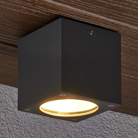 Eckige LED-Deckenleuchte Meret für außen