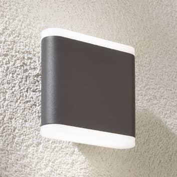Mørkegrå LED-utevegglampe Vaiana