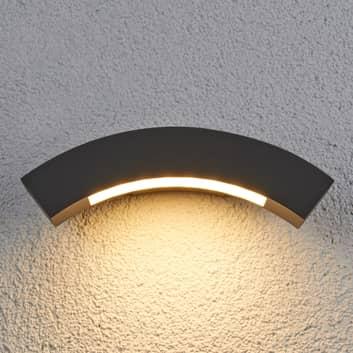 Svungen udendørs LED væglampe Lennik