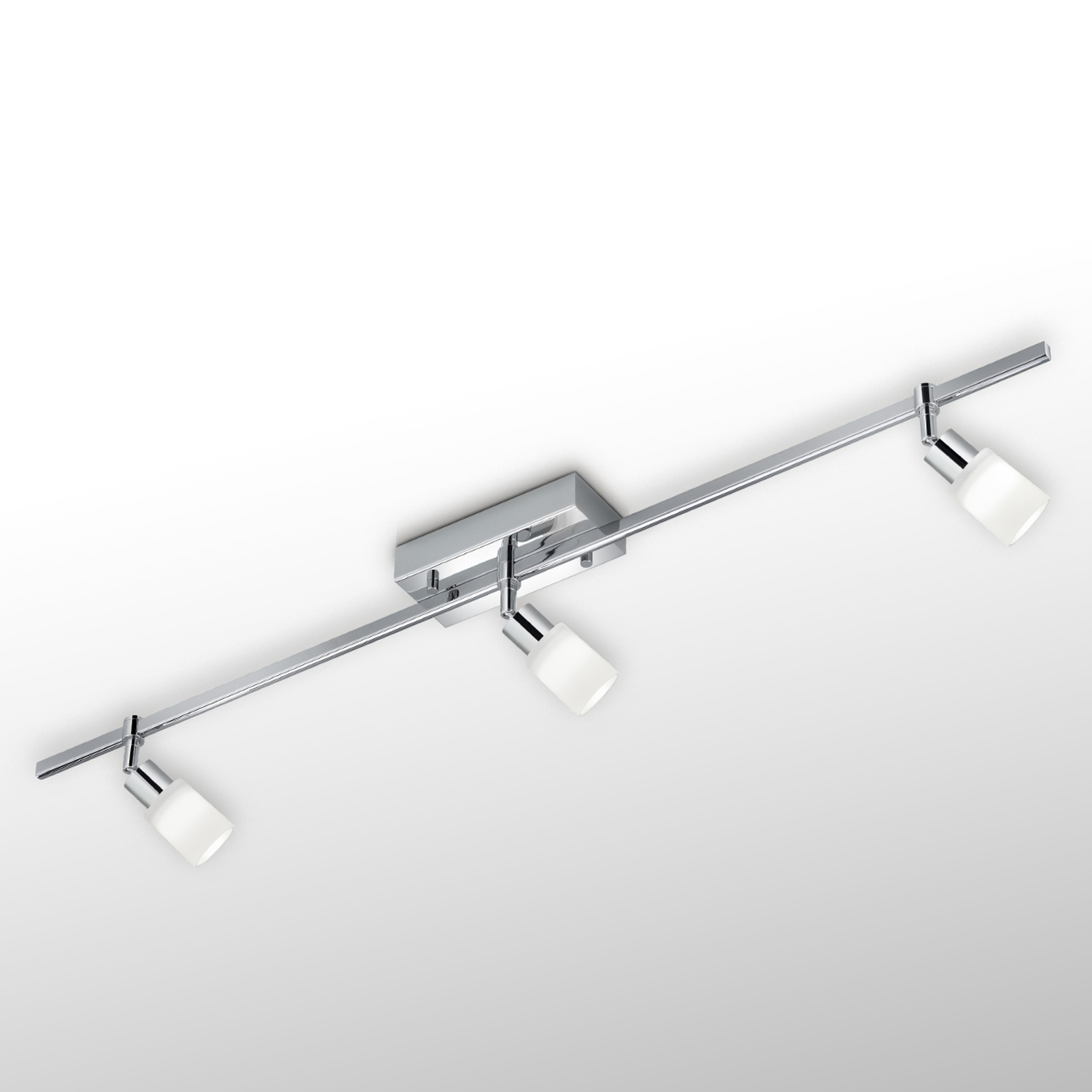 LED plafondlamp Siara, 3-lamps dimbaar chroom