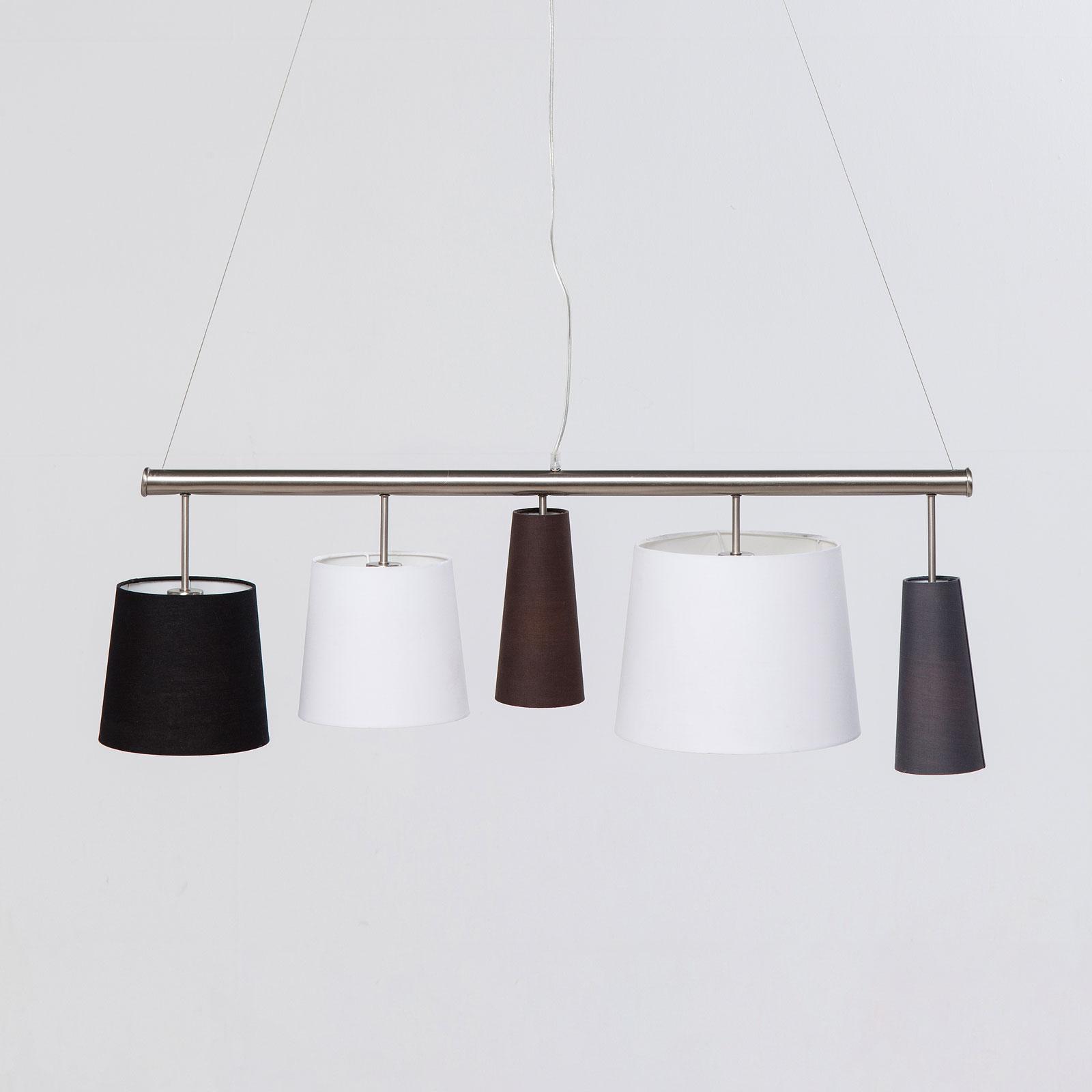 KARE Parecchi Silver hængelampe, sort/hvid