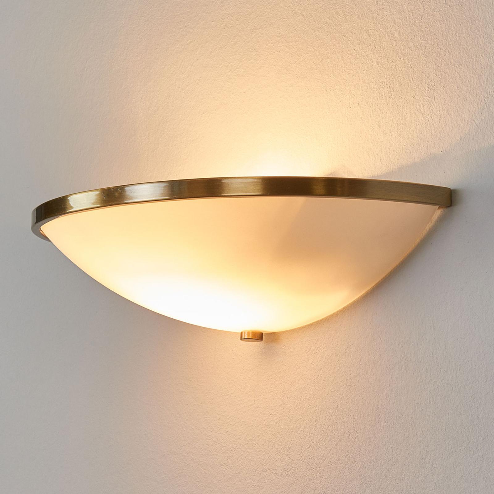 Stijlvolle wandlamp TALYA in oud-messingdecor