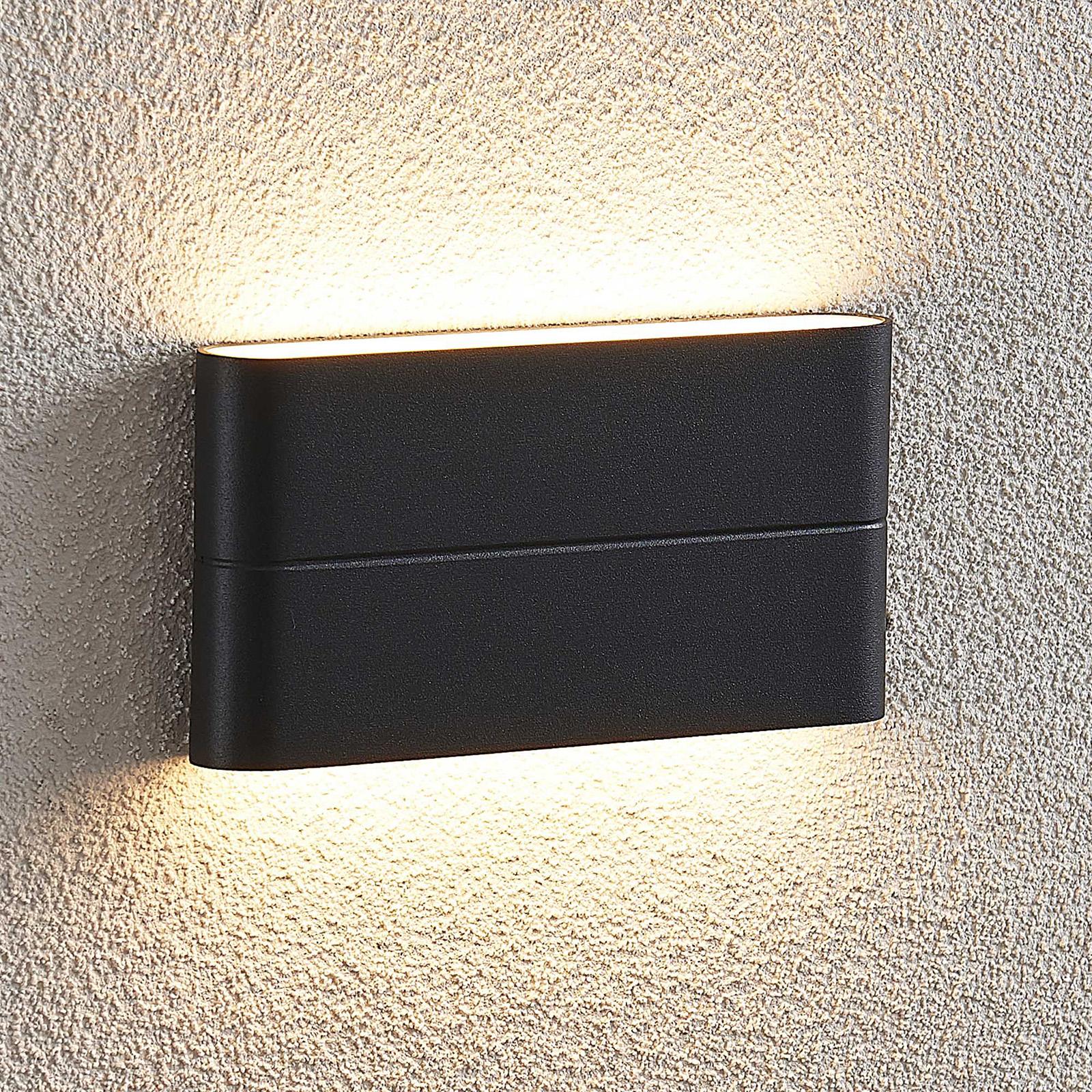 LED-Außenwandleuchte Salka, dunkelgrau, 17,5 cm