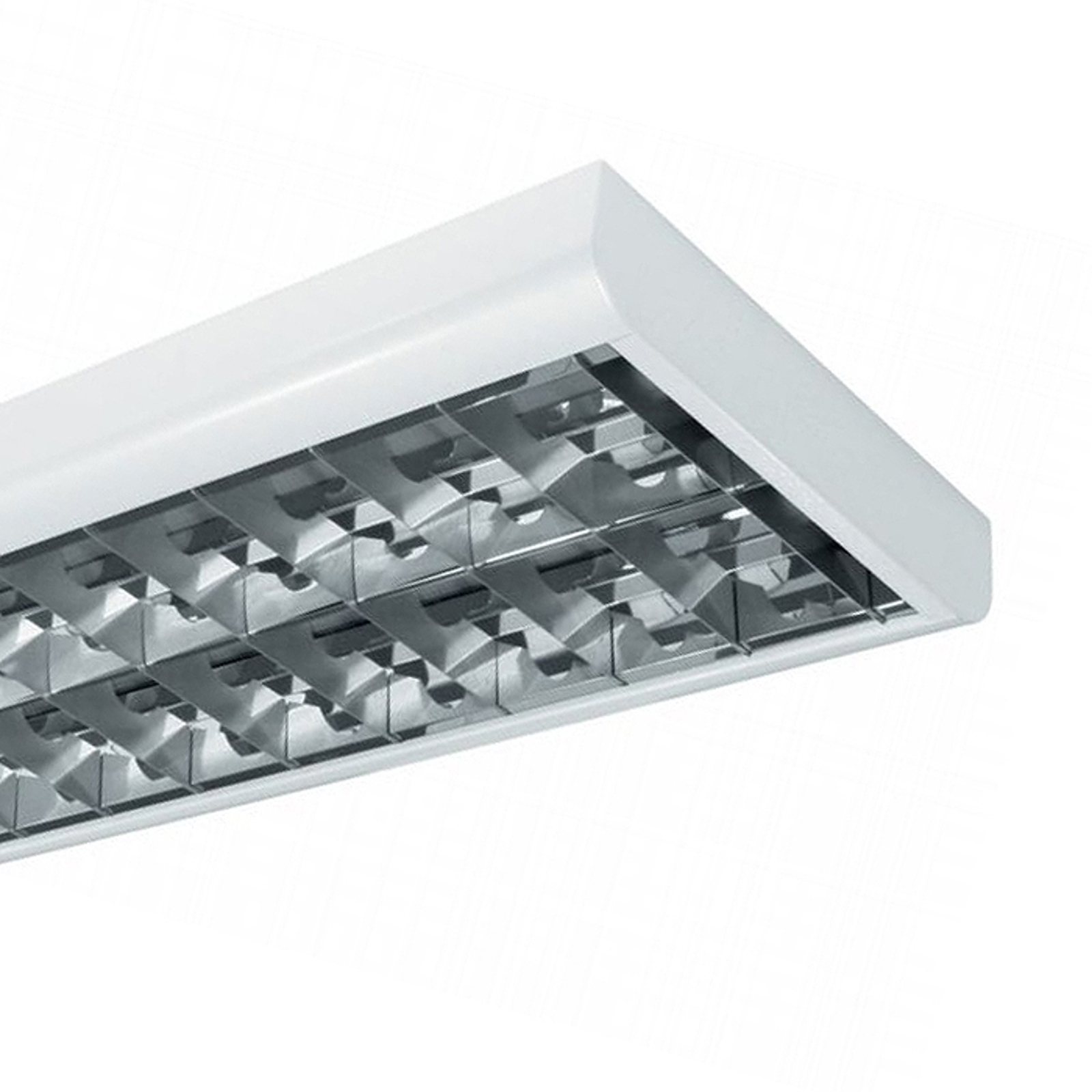 Slimline T8 VDU louvre light 58W two-bulb_3002054_1