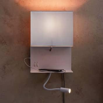 Paulmann Merani væglampe med fleksibel arm og stik