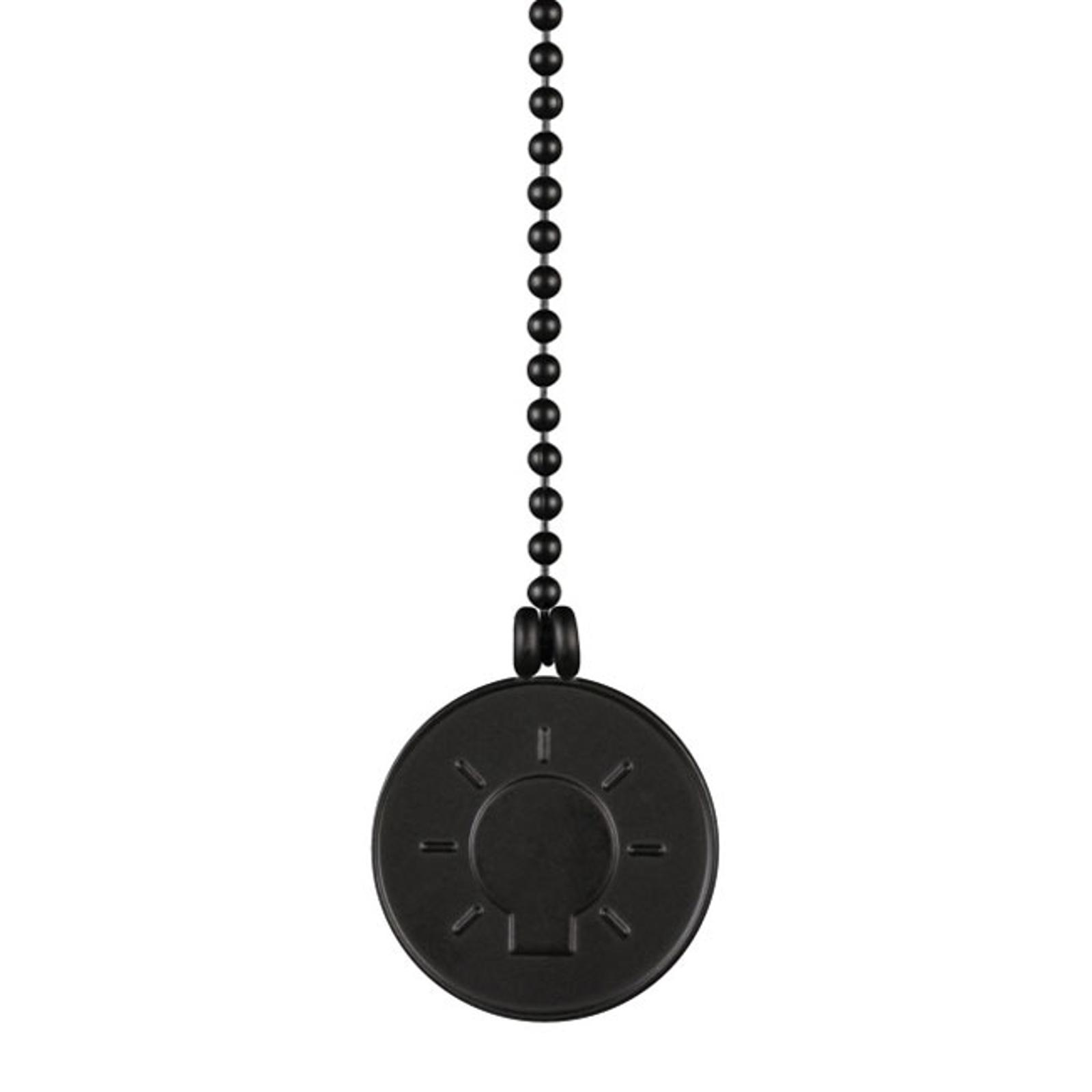 Westinghouse glødepære medaljon trækkæde sort
