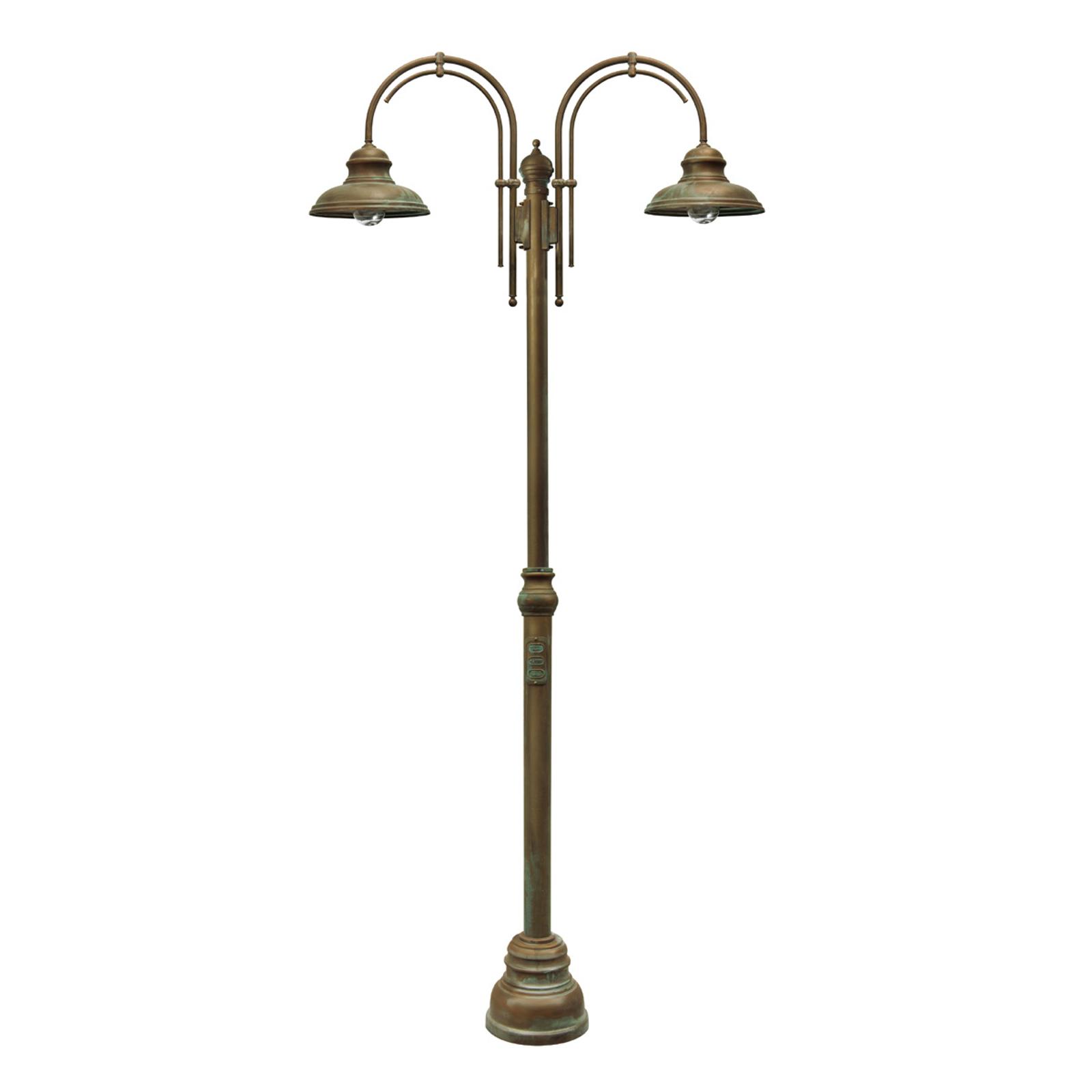 Lampa na maszt Luca, 2-punktowa z podwójnym łukiem
