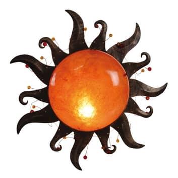 Vägglampa Sania i solform