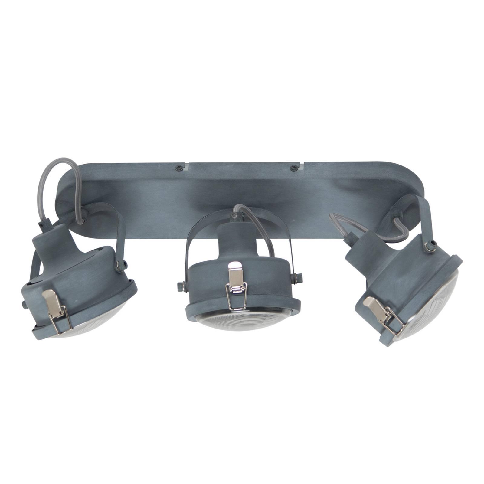 Industriële plafondlamp Satellite in grijs