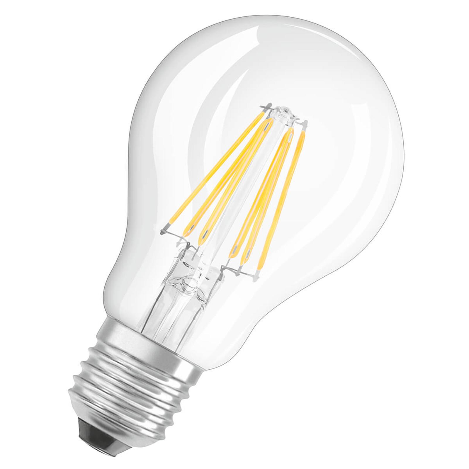 Lampadina a filamenti LED E27 7,5W, bianco caldo