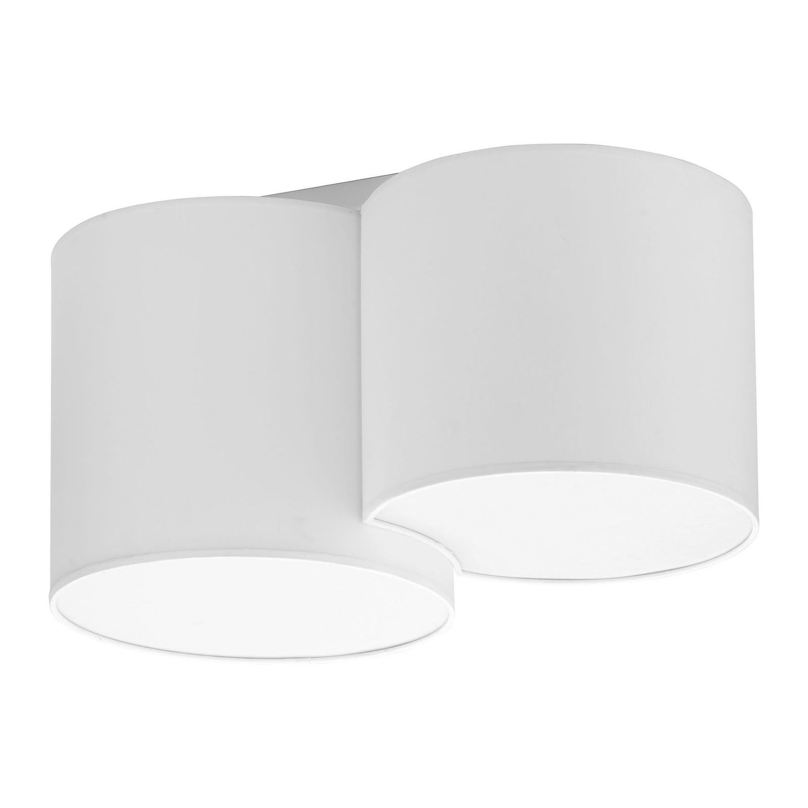 Taklampe Mona, 2 lyskilder, hvit