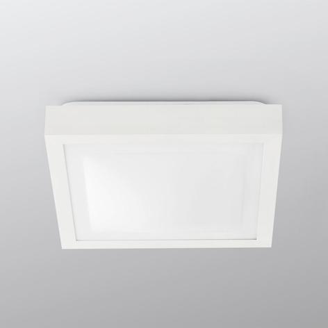 Vierkante plafondlamp Tola voor de badkamer