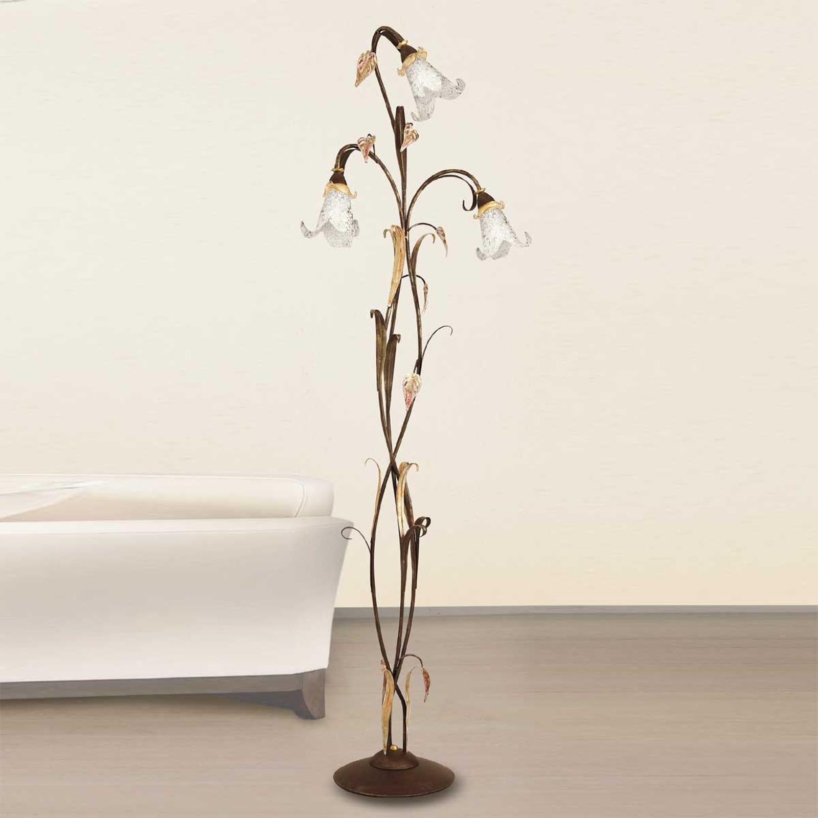 3-punktowa florentyńska lampa stojąca Giuseppe