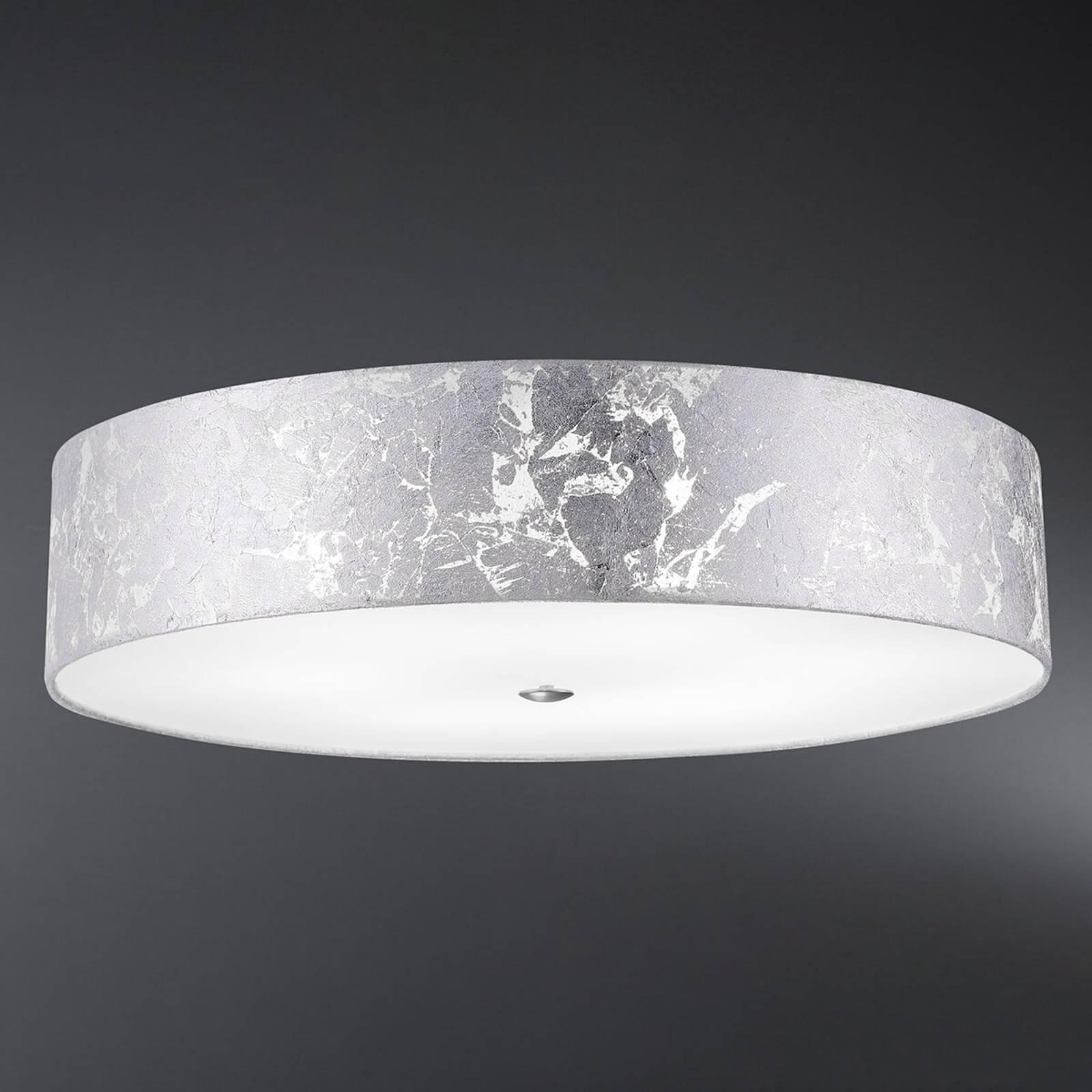 Loop - lampa sufitowa klosz z płatkowego srebra