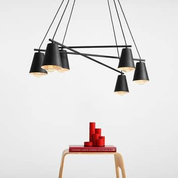 Suspension 1008, à 6 lampes, noire