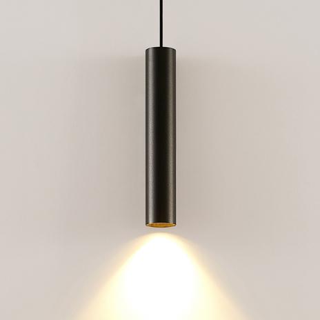Arcchio Ejona lampa wisząca, wysokość 35 cm czarna