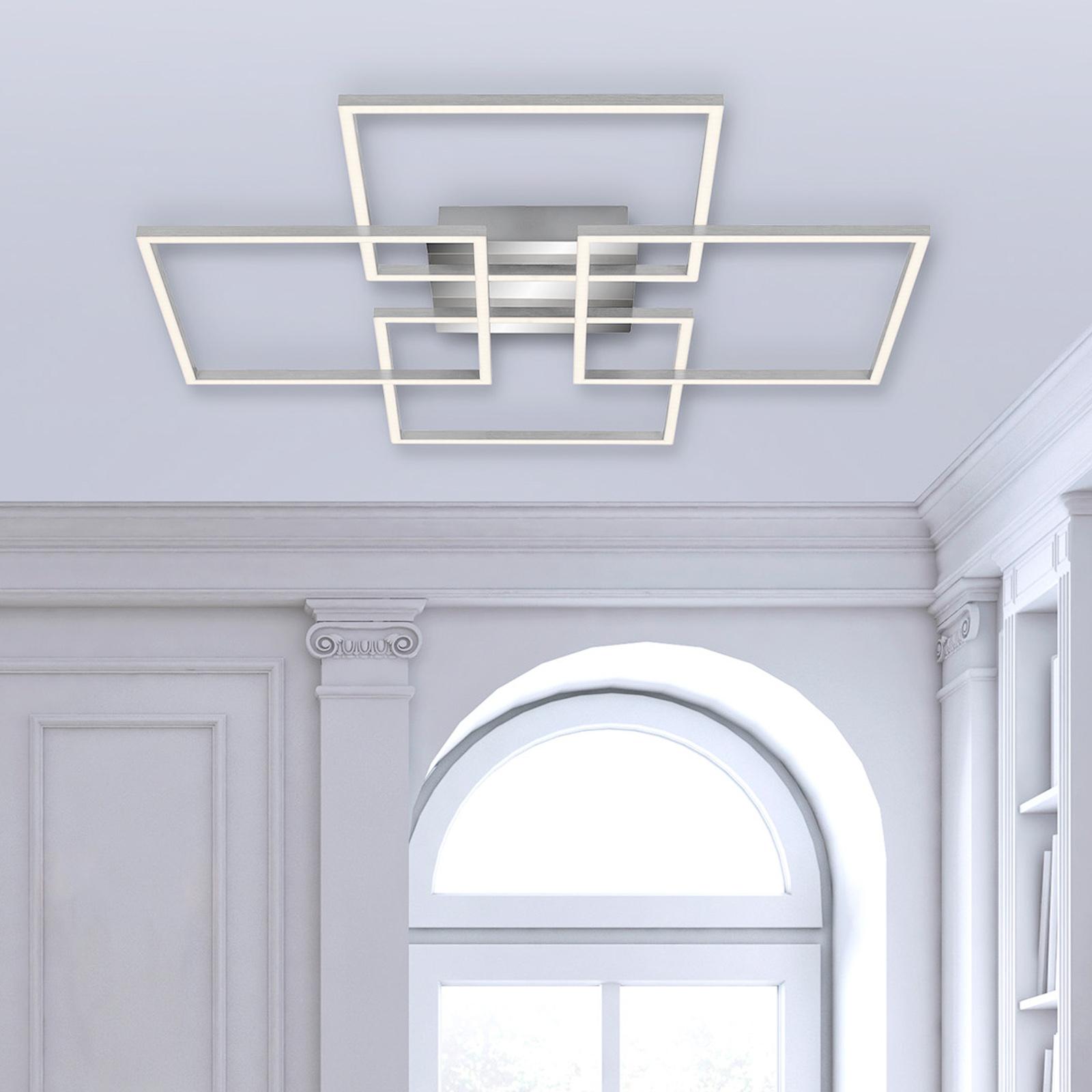 LED-Deckenleuchte Frames, 4 Quadrate, drehbar