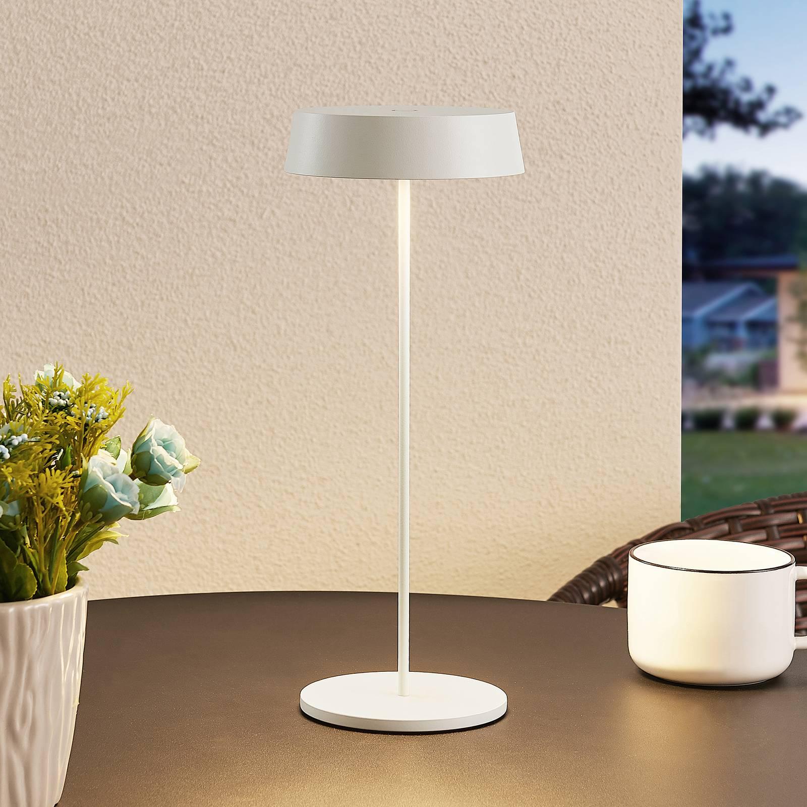 Lucande Tibia lampe à poser LED, USB, blanche