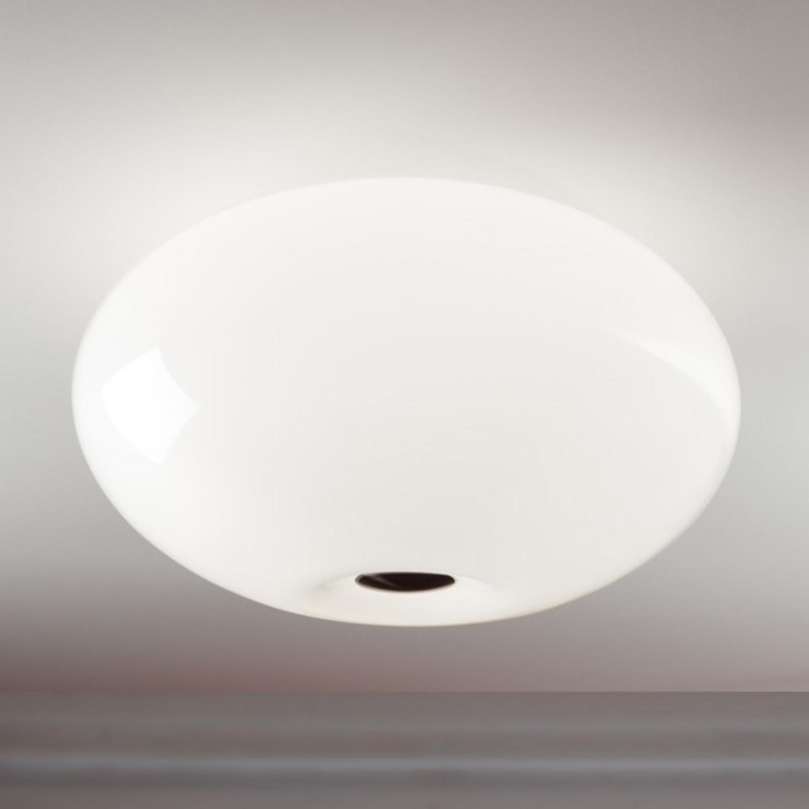 Piękna lampa sufitowa AIH 38 cm biała błyszcząca