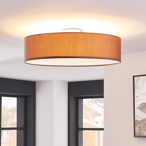 Deckenleuchte Sebatin mit E27-LED, 50 cm, braun