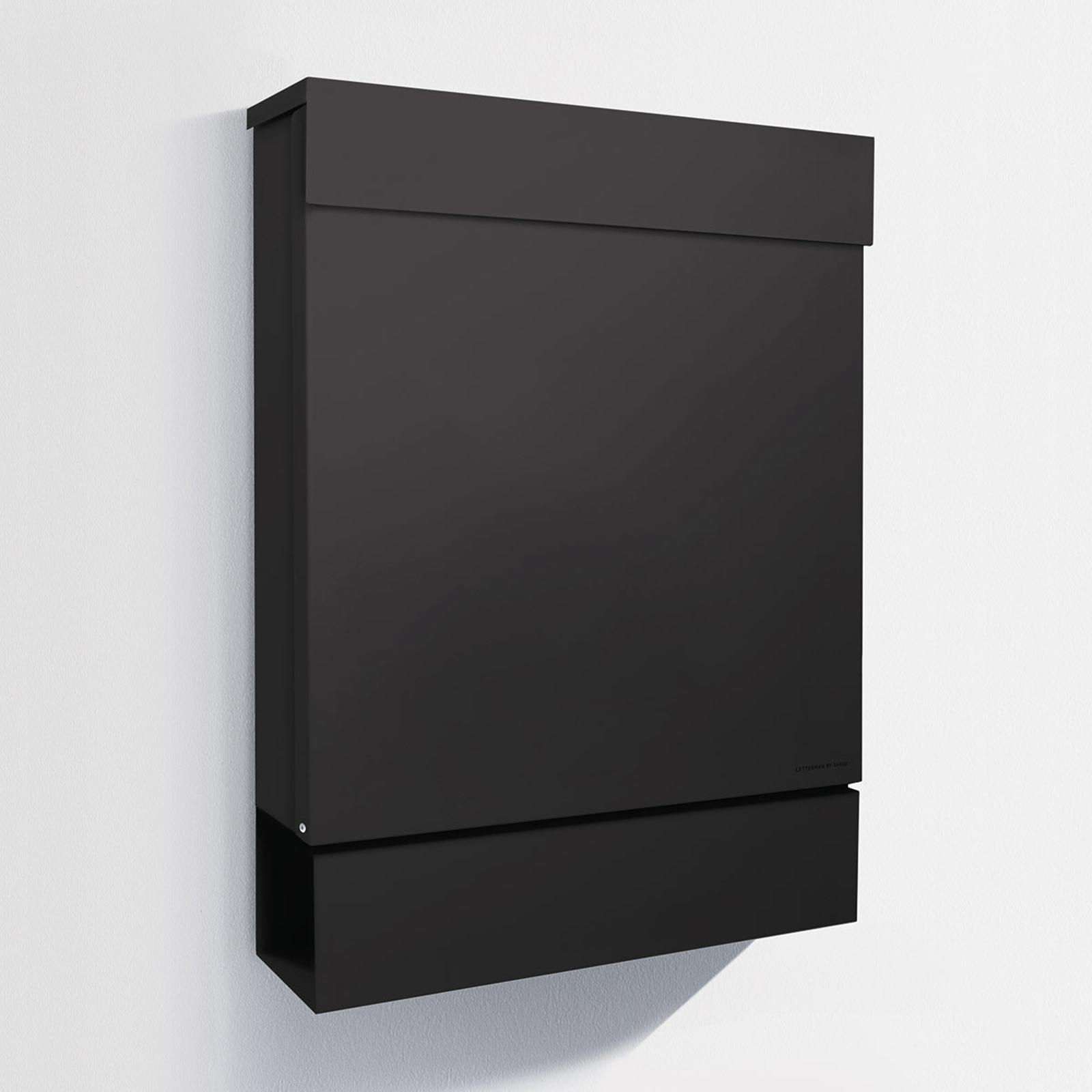 Letterman M brevkasse med avisrum, sort