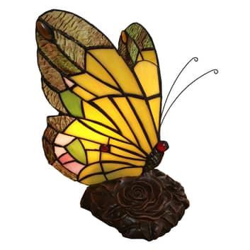 6009 bordlampe, sommerfuglform, Tiffany-stil