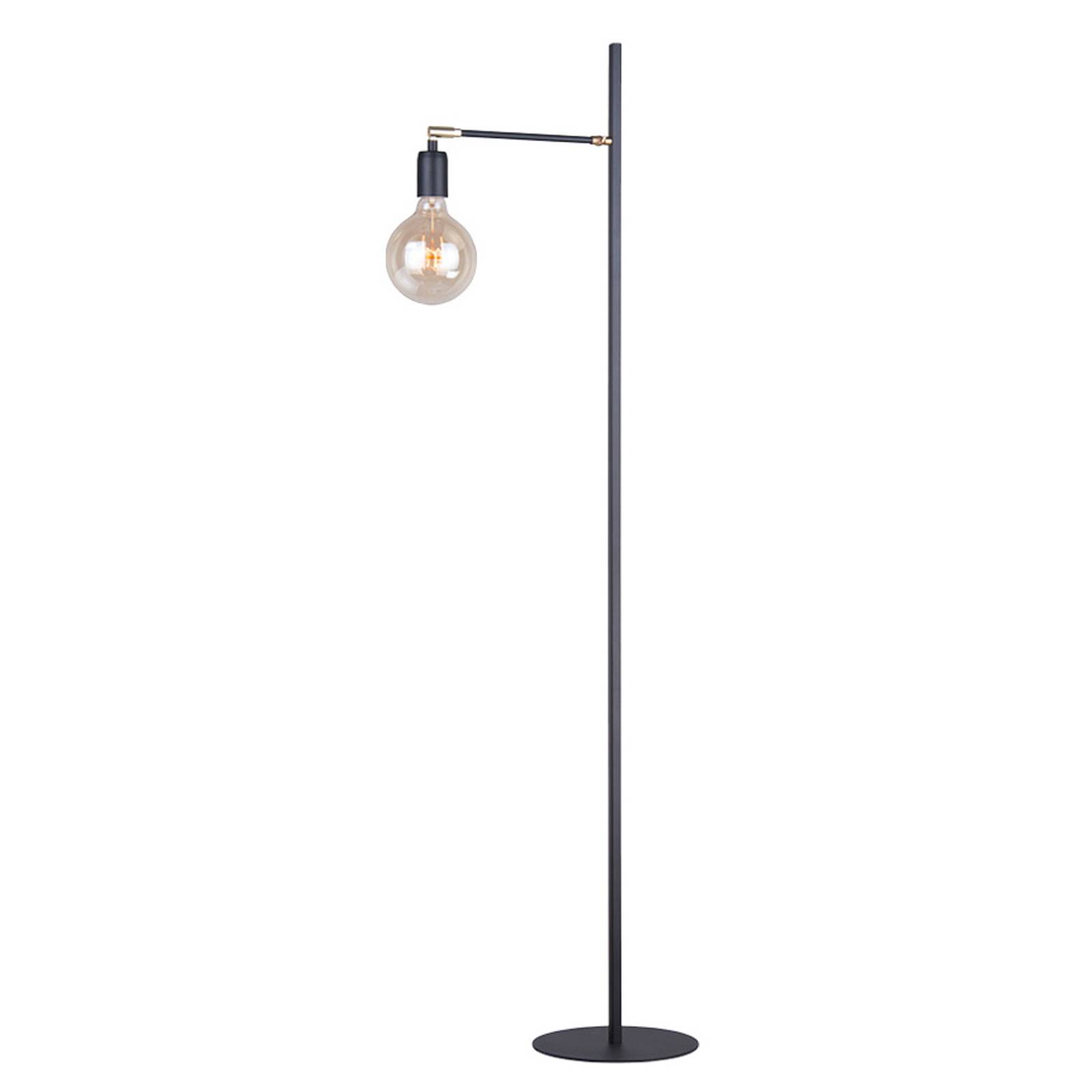 Vloerlamp Stik met scharnieren, zwart