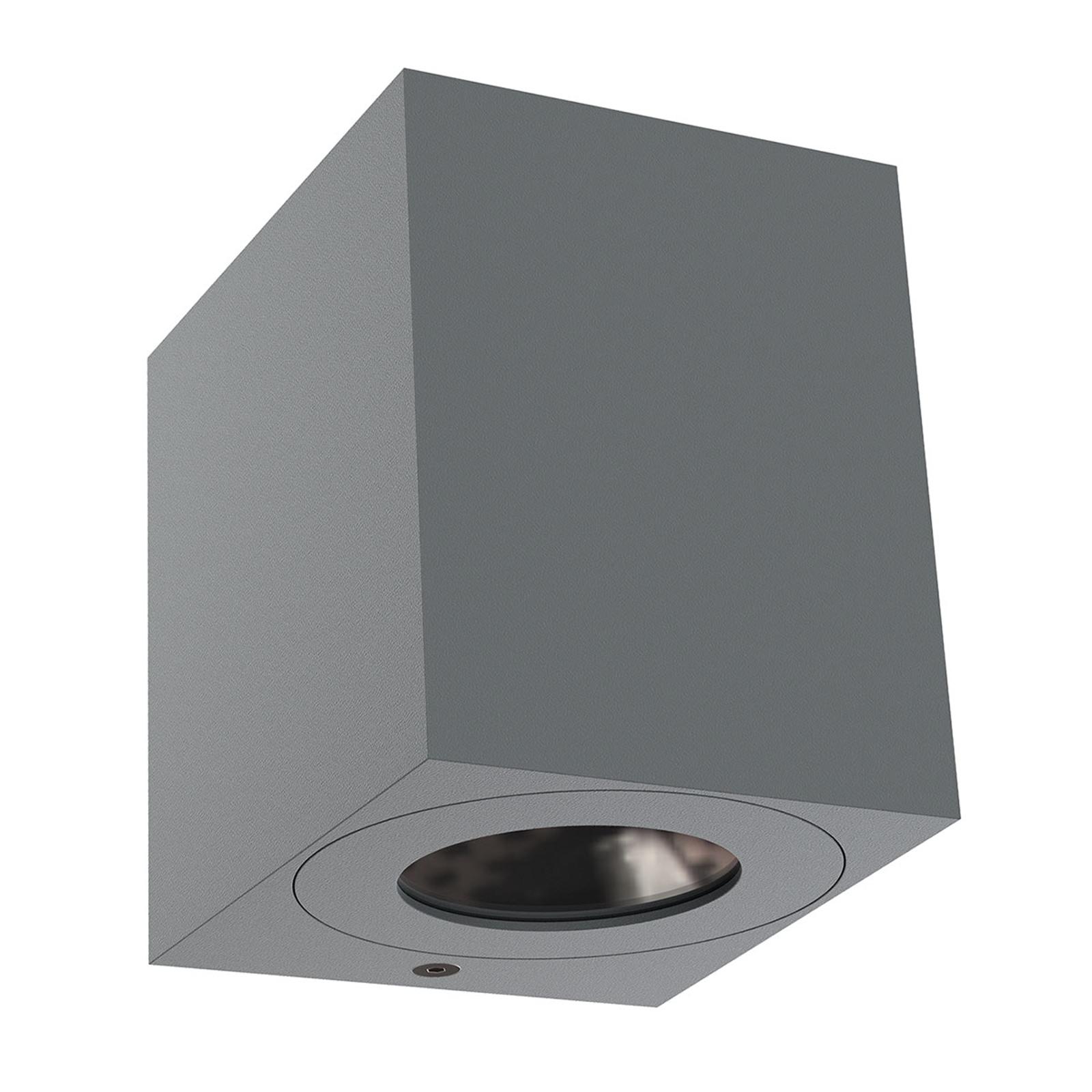 LED buitenwandlamp Canto Kubi 2, 10 cm, grijs