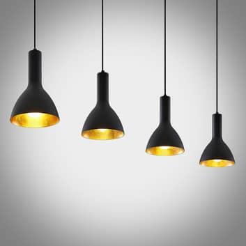 Arcchio Cosmina hanglamp, 4-lamps lang zwart