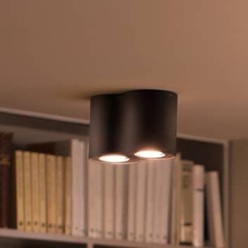 Philips Hue White Ambiance Pillar 2 lampor svart