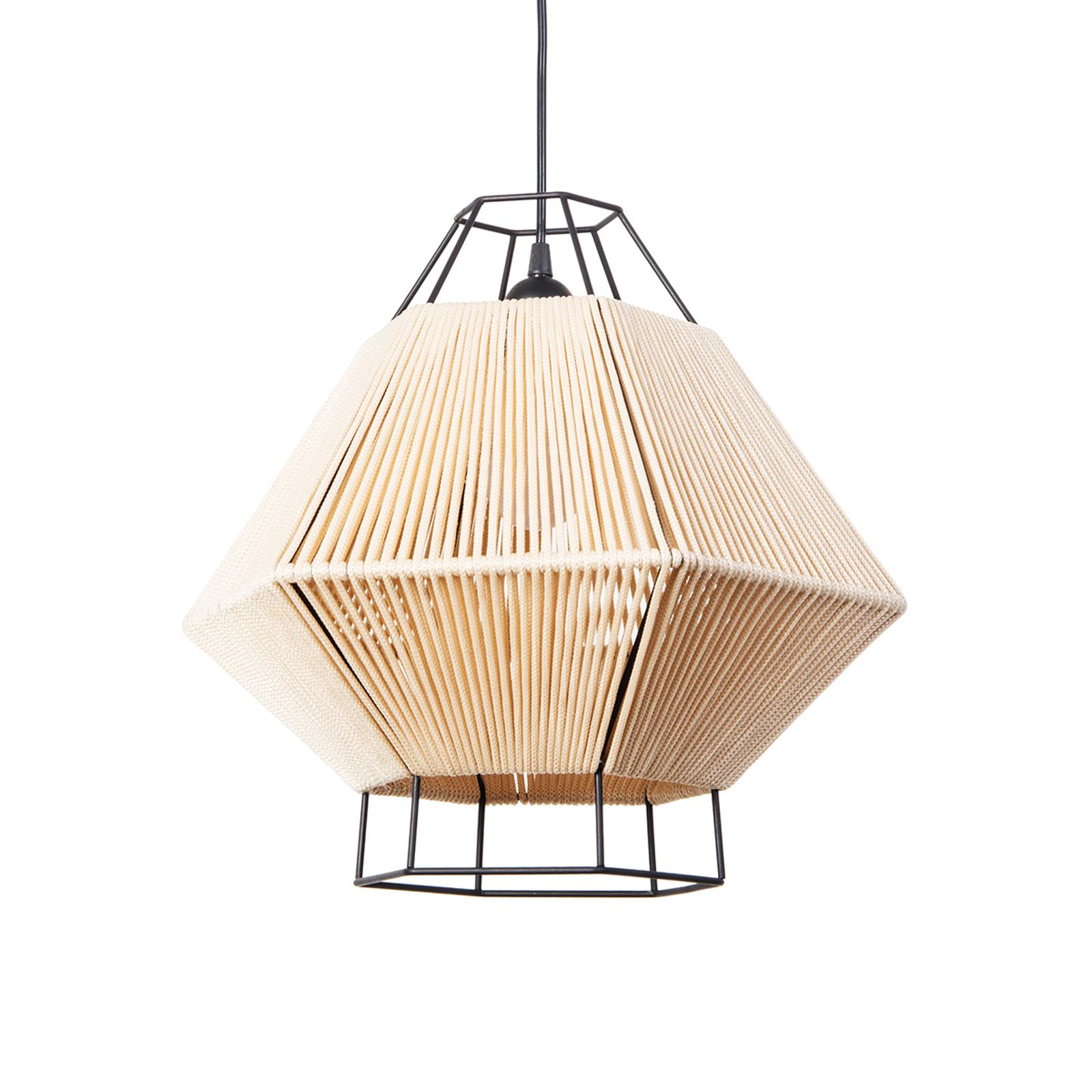 Lampa wisząca Legato ze sznurkiem, beżowa