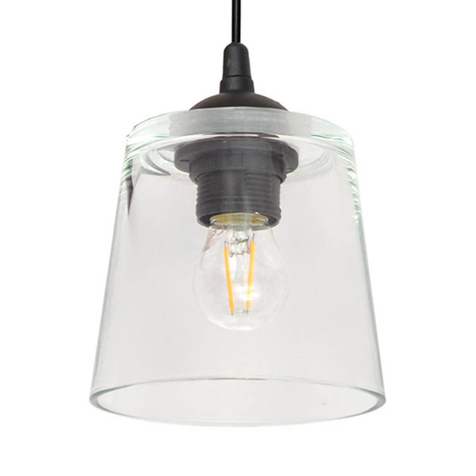 Lampa wisząca Lucea 1-pkt. klosz przezroczysty