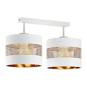 Lampa sufitowa Tago, 2-punktowa, biała/złota