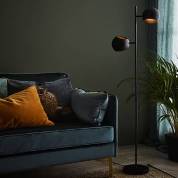 Edgar gulvlampe, 2 lyskilder, sort