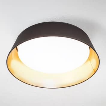 In zwart-goud - ronde LED plafondlamp Ponts