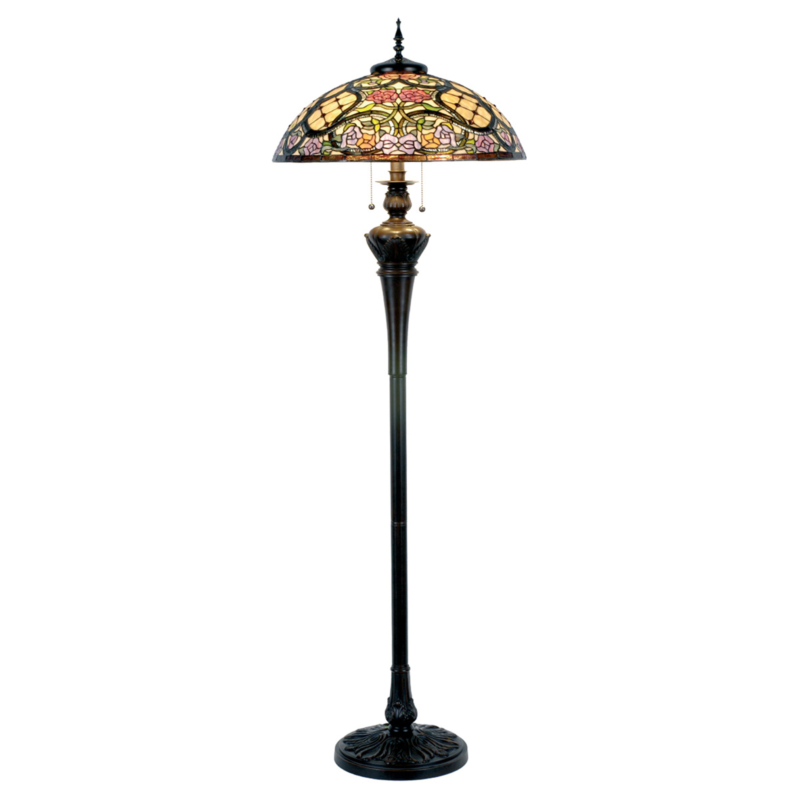 Rosaly lampa stojąca w stylu Tiffany