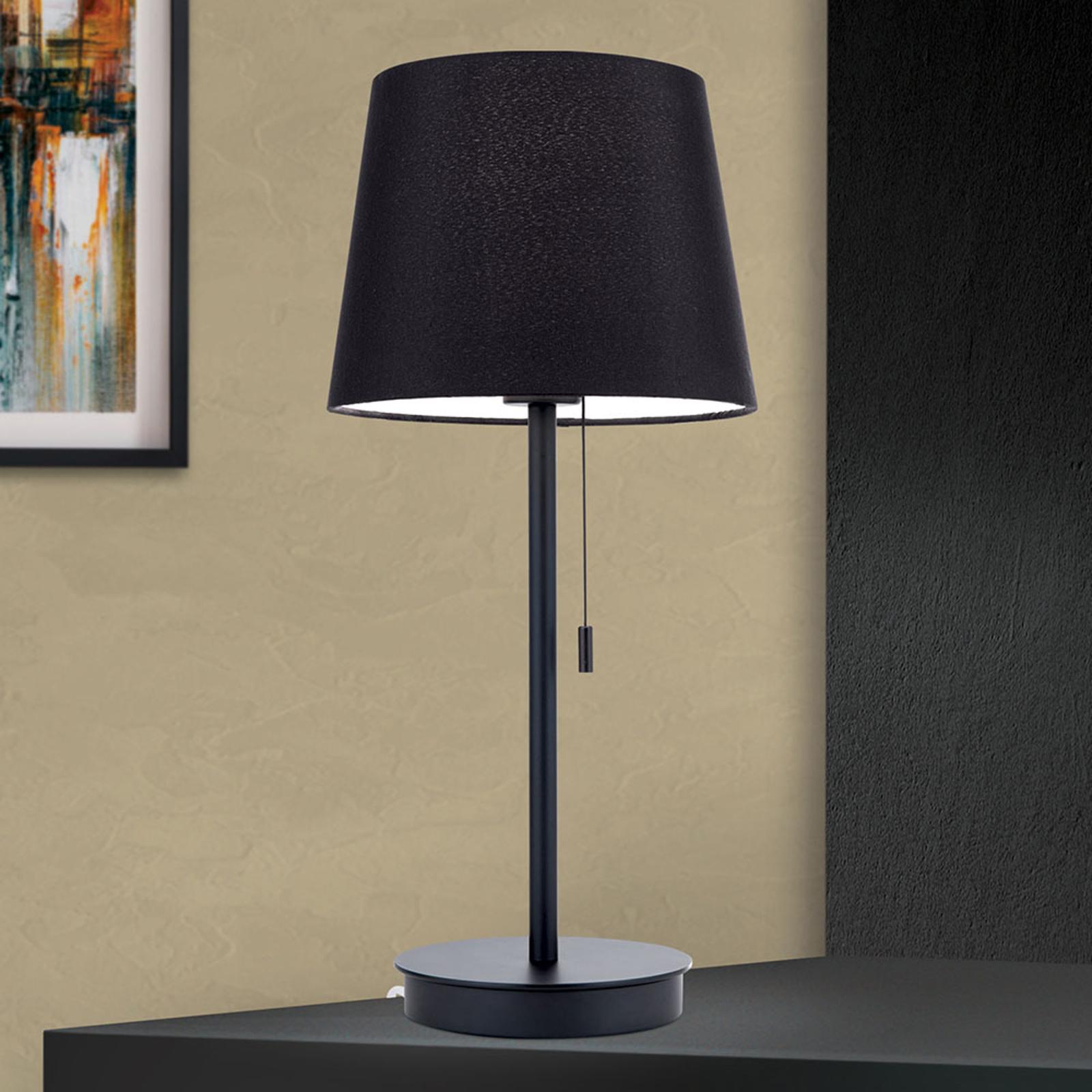 Lampa stołowa Ludwig z portem USB czarna