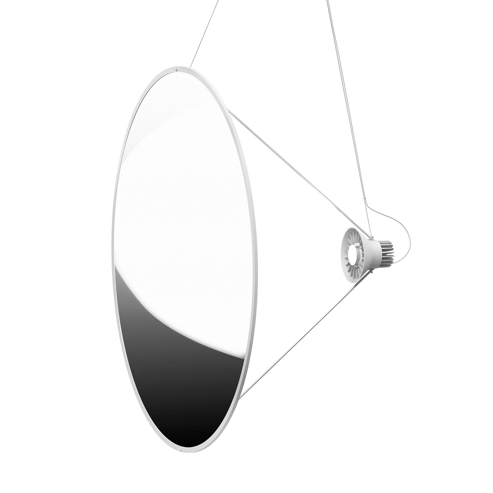 Luceplan Amisol suspension LED Ø 110cm argentée
