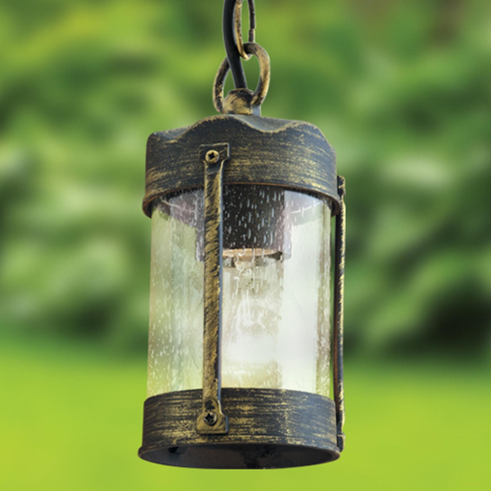 Czarno-złota lampa wisząca LENARD na zewnątrz