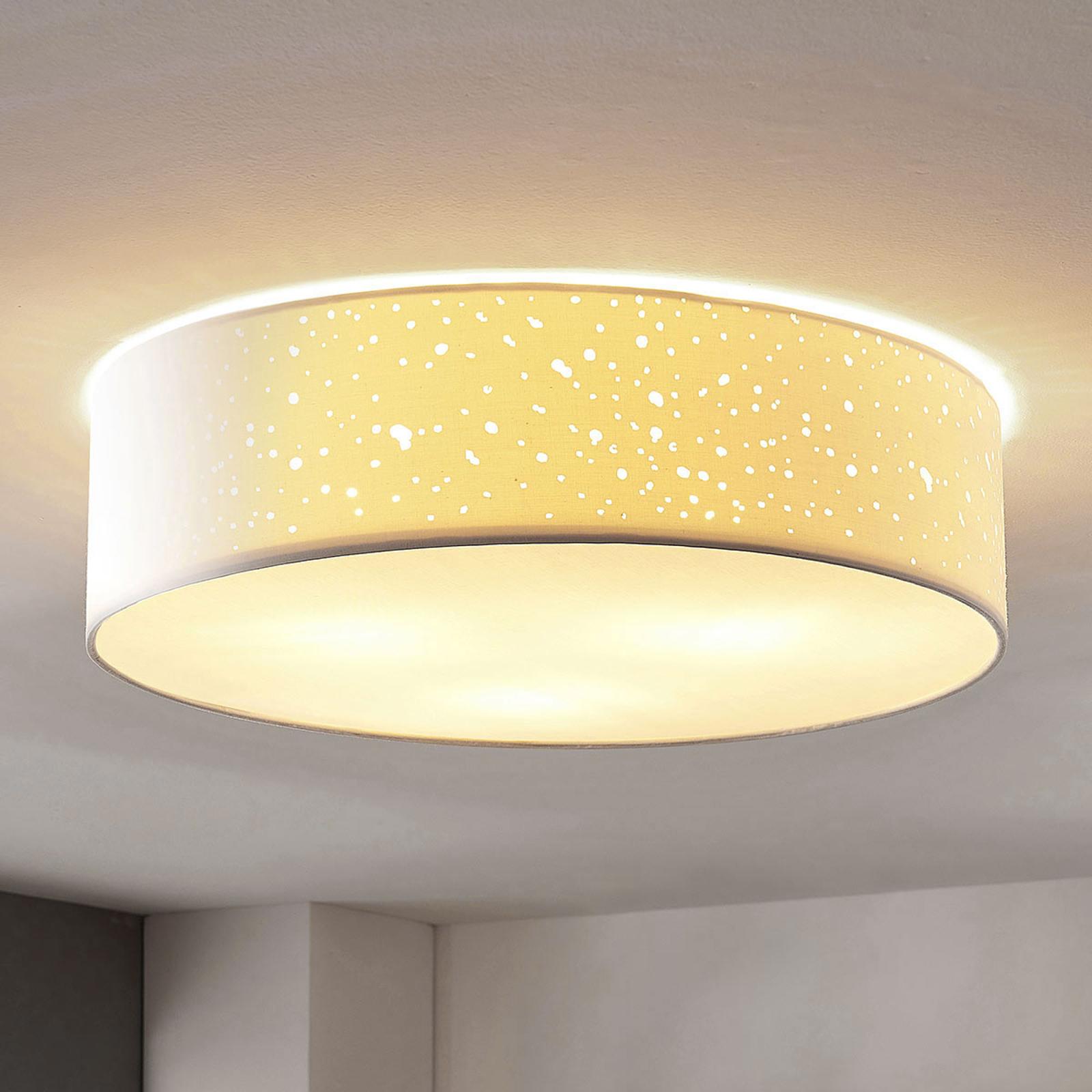 Stropní svítilna Umma, přímo na stropě, bílá