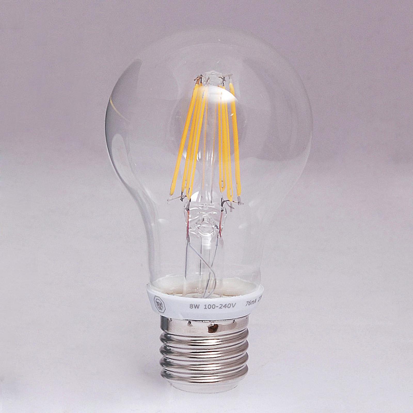 E27 8W 827 LED-Filament Lampe