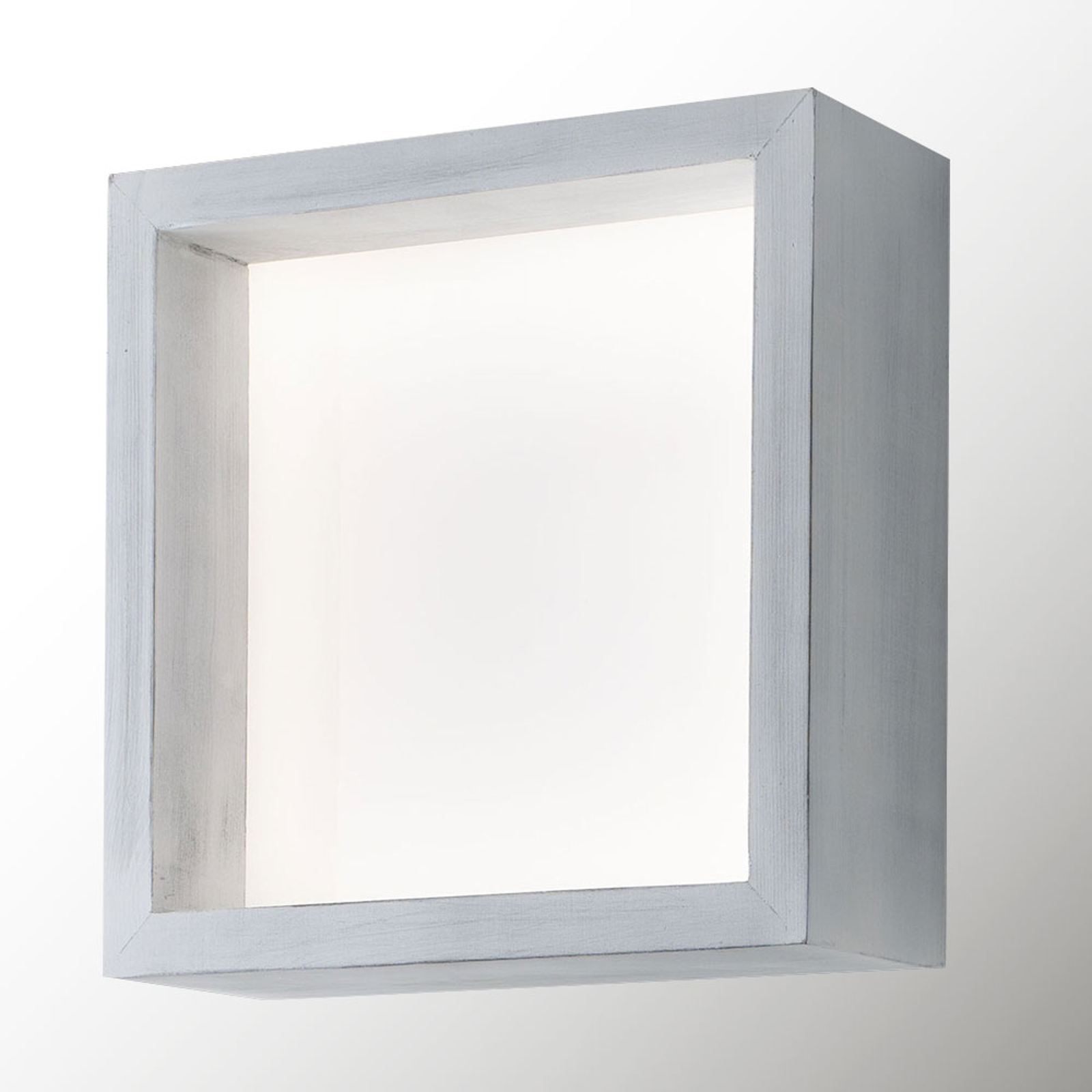 Applique LED Window, 37 x 37 cm, blanc vintage