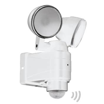 Utendørs LED-spot Casabas batteridrift 2 lys hvit
