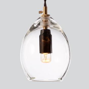 Klar designerpendellampe i glass Unika