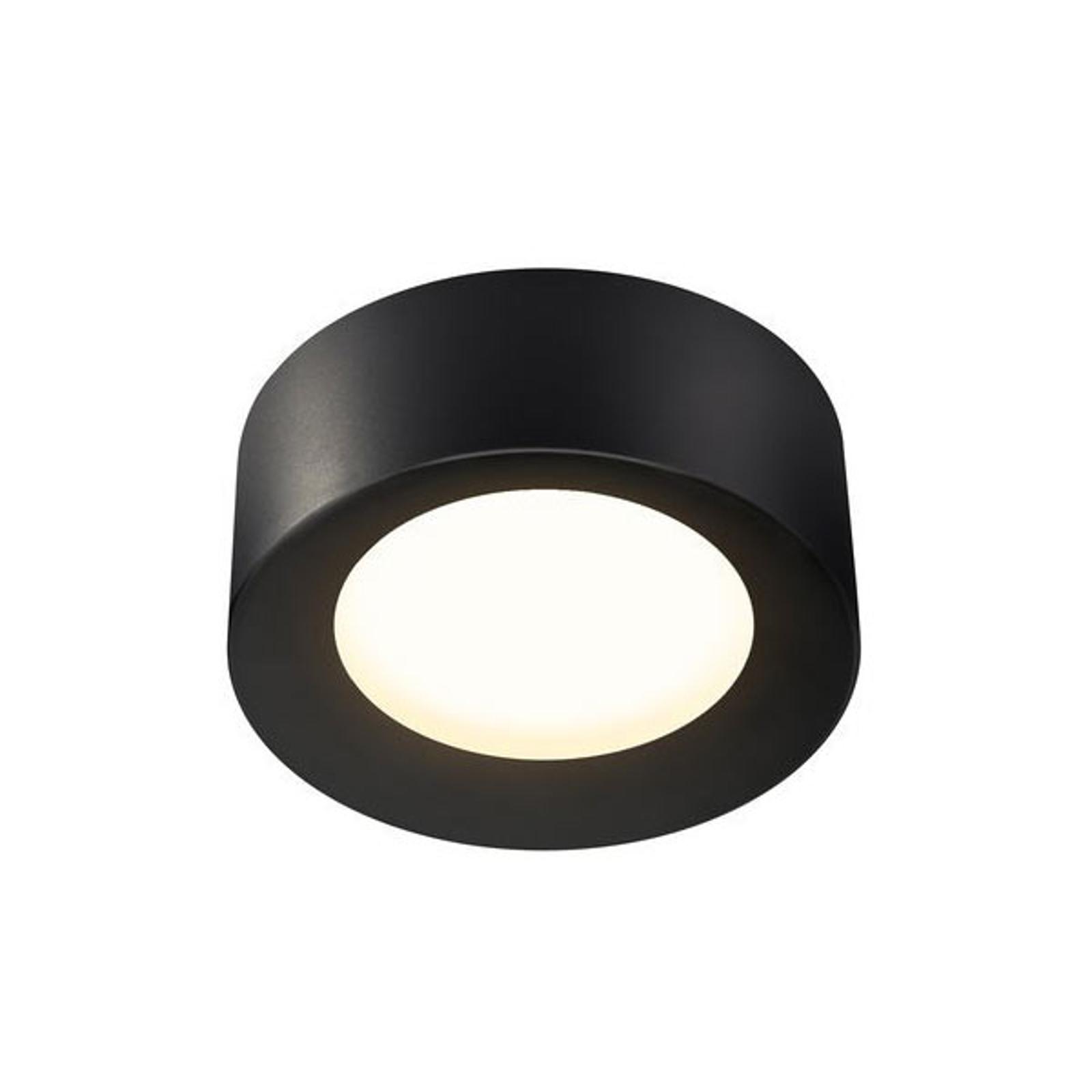 SLV Fera LED-Deckenleuchte, Ø 20 cm, schwarz matt