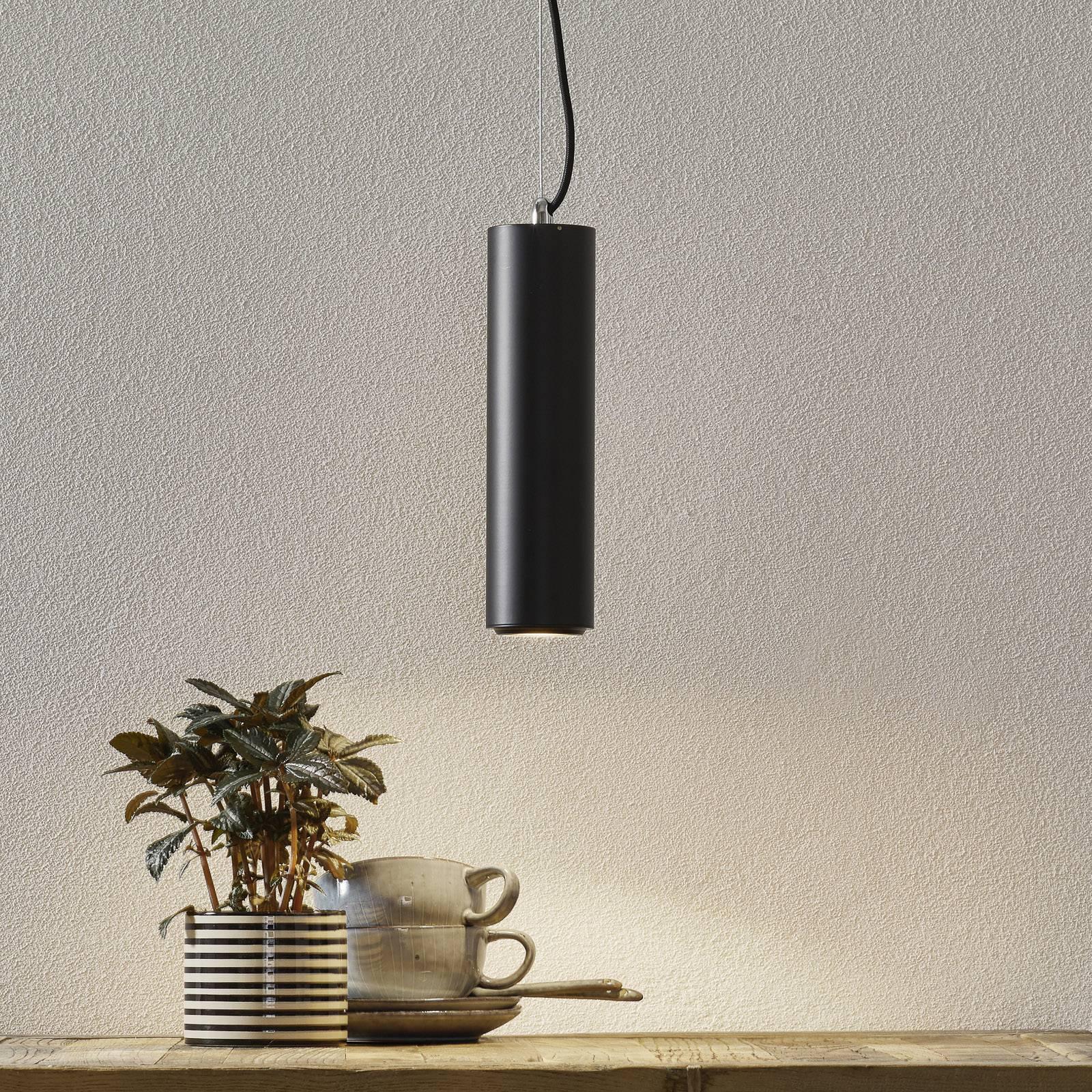 Studio - suspension LED noire cylindrique