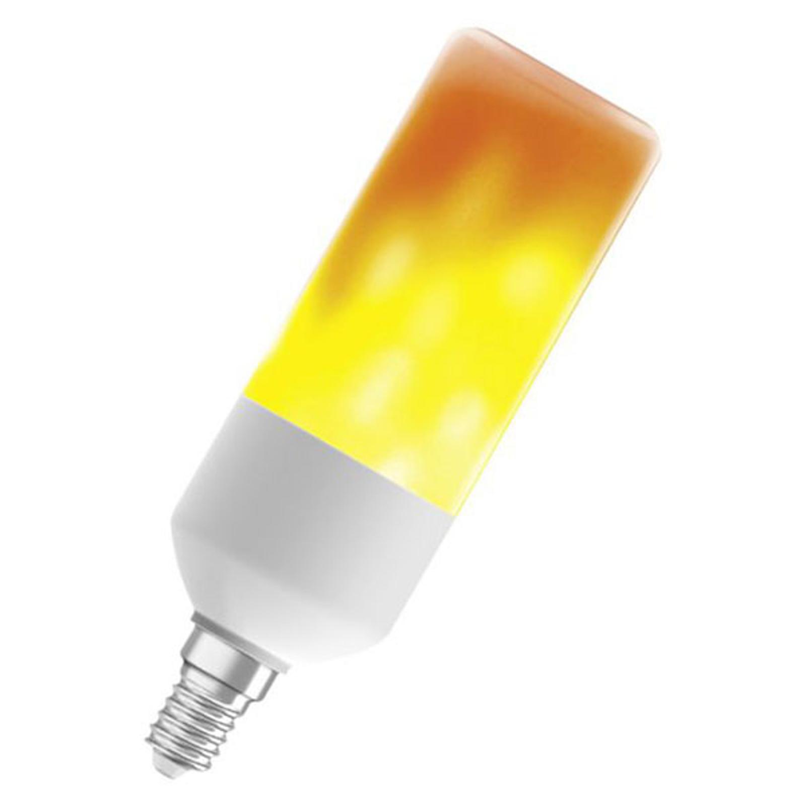 OSRAM Stick Flame LED-Lampe E14 0,5W 1.500K